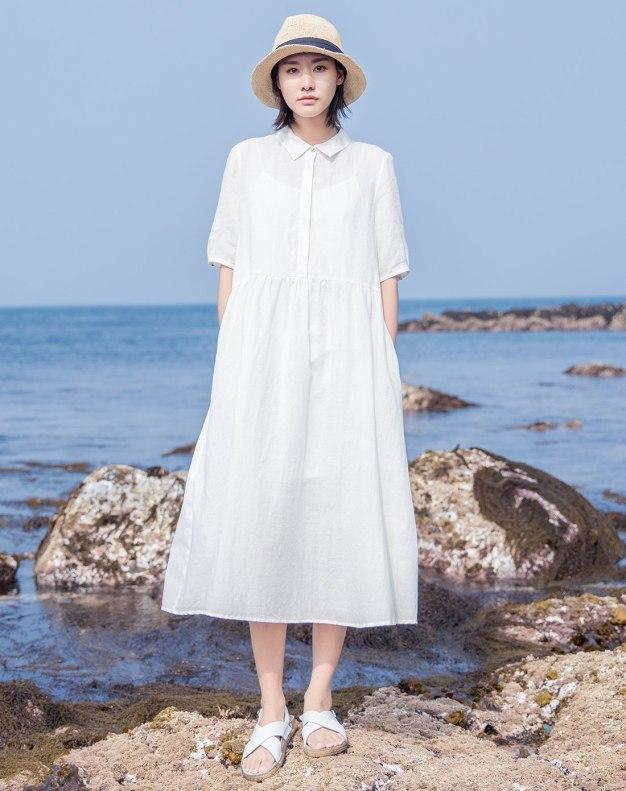 White Women's Dress