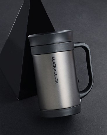 Black 301-400mL Straight Cup Vacuum Flasks & Thermoses