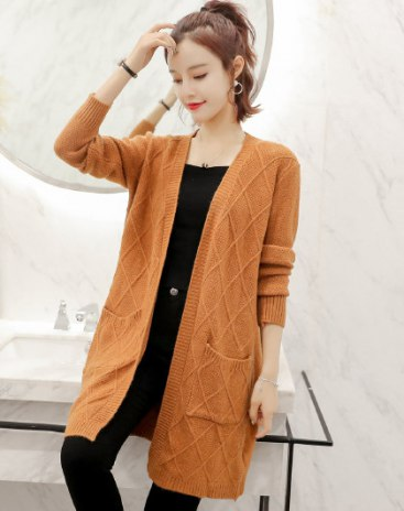 Brown Plain Collarless Long Sleeve Fitted Women's Outerwear