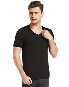 Black Modal Light Elastic T-shirt