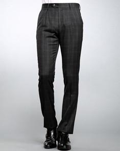 Gray Inelastic Men's Trousers