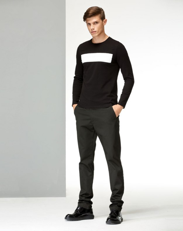 Black Long Sleeve Standard Men's T-Shirt