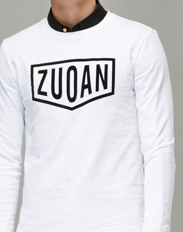 White Long Sleeve Standard Men's T-Shirt