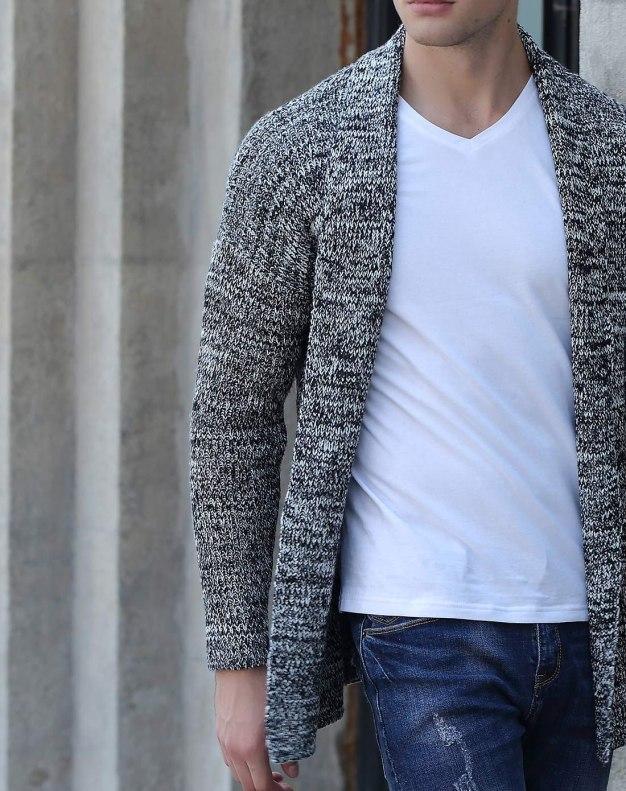 Black Long Sleeve Standard Men's Sweater