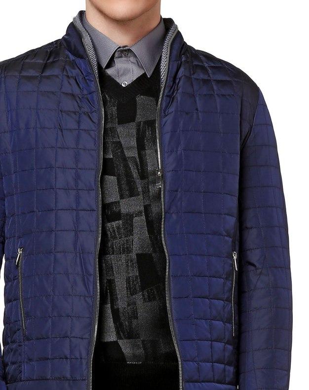 Blue Long Sleeve Men's Down Coat