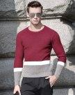 Red Long Sleeve Standard Men's Knitwear