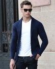 Blue Long Sleeve Standard Men's Knitwear