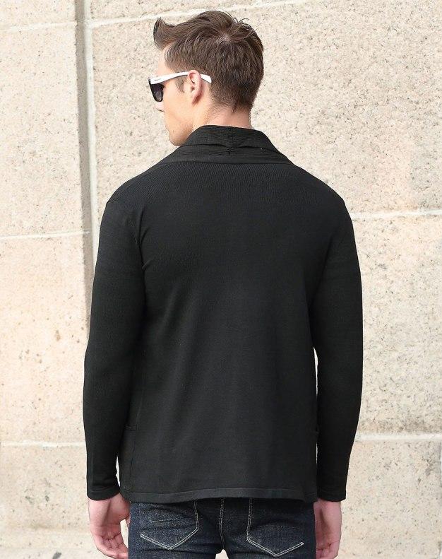 Black Long Sleeve Standard Men's Knitwear