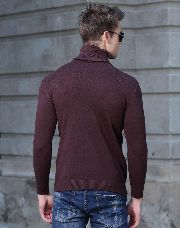 Coffee Long Sleeve Standard Men's Knitwear