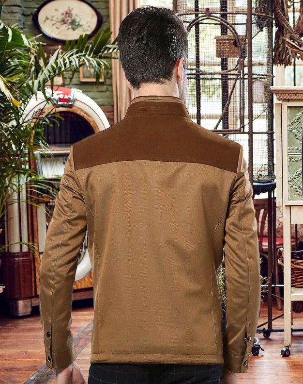 Yellow Long Sleeve Men's Outerwear