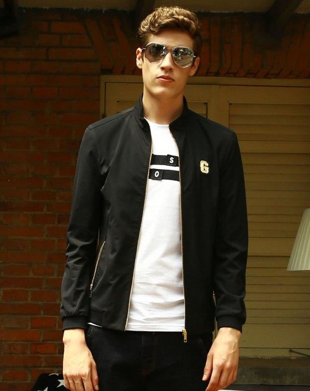 Black Long Sleeve Men's Jacket