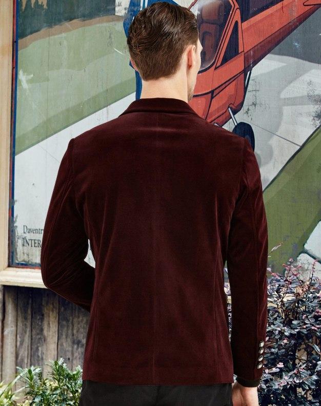 Red Long Sleeve Men's Suit