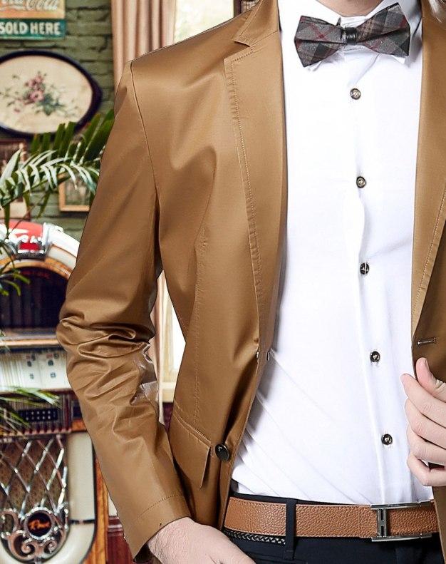 Yellow Long Sleeve Men's Suit