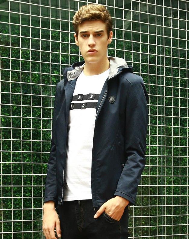 Blue Long Sleeve Men's Jacket