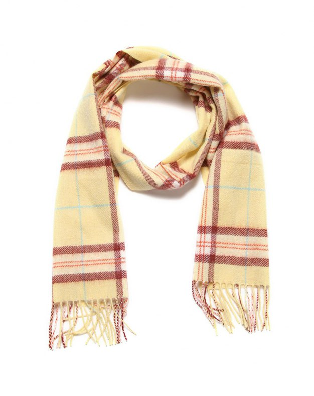 Yellow Lamb Wool Scarf