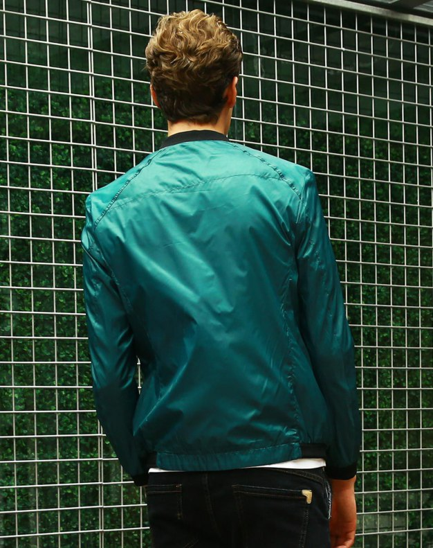 Green Long Sleeve Standard Men's Jacket
