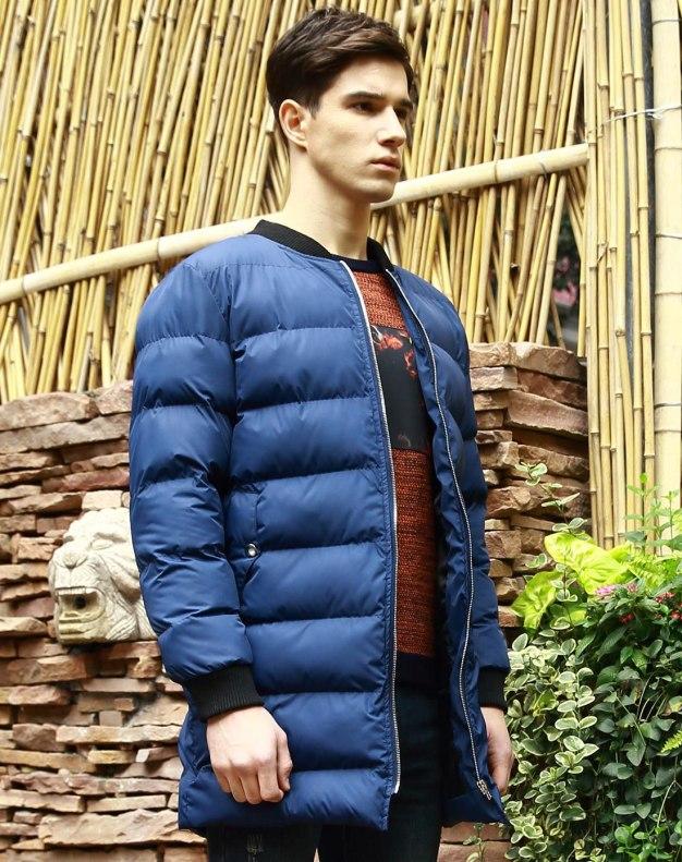 Blue Long Sleeve Standard Men's Outerwear