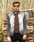 Gray Long Sleeve Standard Men's Outerwear