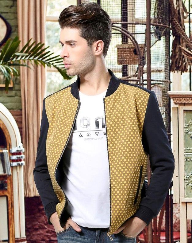 Yellow Long Sleeve Standard Men's Jacket