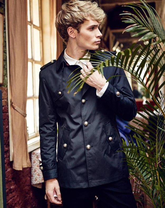 Black Long Sleeve Standard Men's Windbreaker