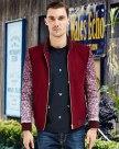 Red Long Sleeve Standard Men's Jacket
