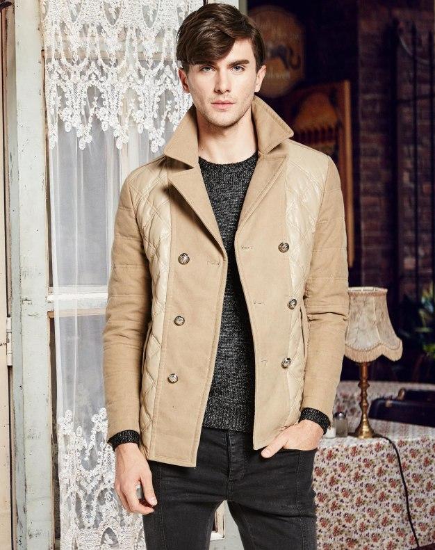 Lapel Standard Men's Down Coat