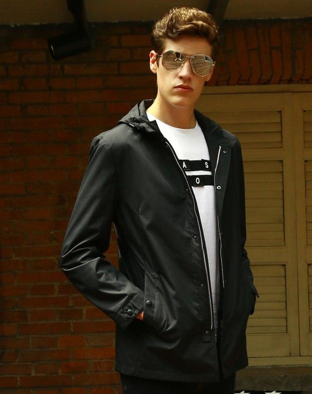 Black Long Sleeve Standard Men's Jacket