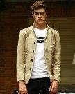 Camel Long Sleeve Standard Men's Outerwear