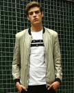 White Long Sleeve Standard Men's Jacket