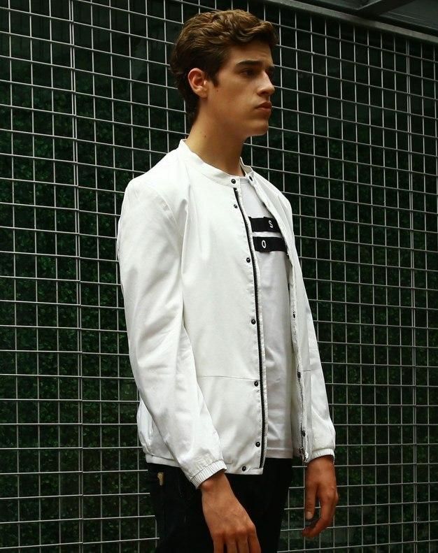 White Long Sleeve Standard Men's Jacket