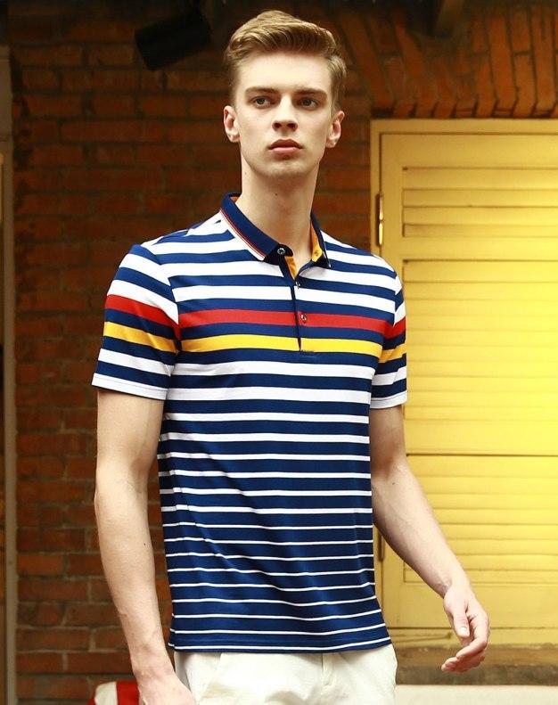 Blue Stripes Short Sleeve Standard Men's T-Shirt