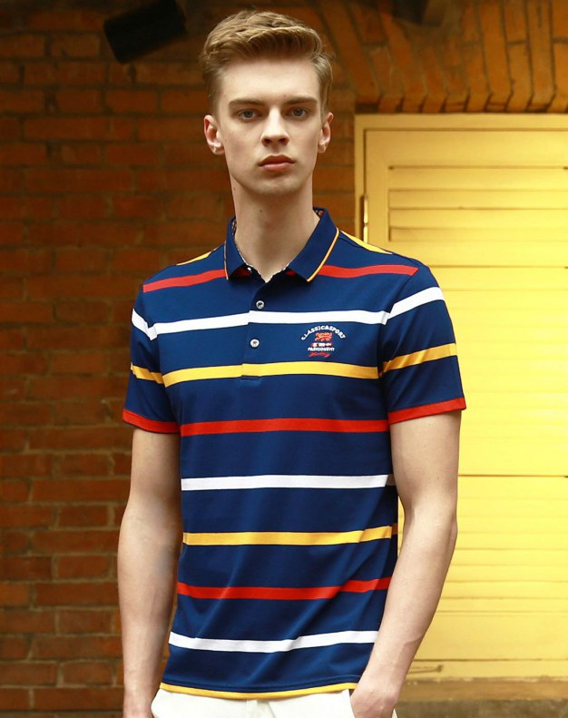 Yellow Stripes Short Sleeve Standard Men's T-Shirt