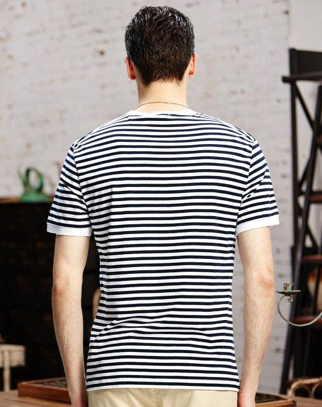 White Stripes Short Sleeve Standard Men's T-Shirt