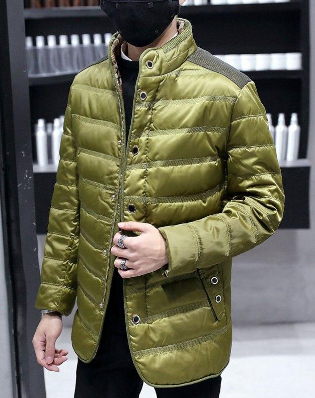 Green Men's Down Coat
