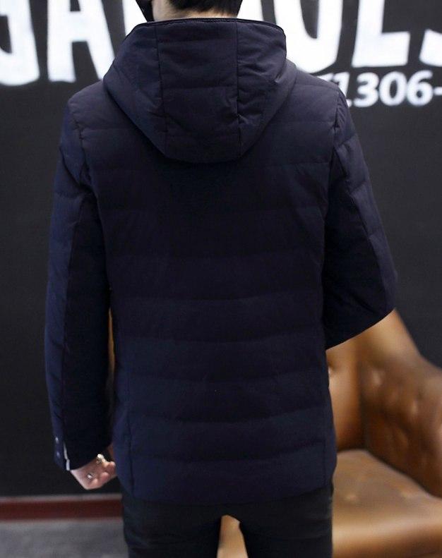 Indigo Long Sleeve Standard Men's Down Coat