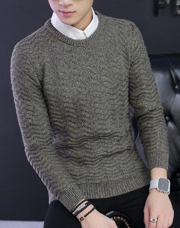 Green Long Sleeve Standard Men's Sweater