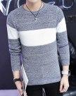 Blue Long Sleeve Standard Men's Sweater
