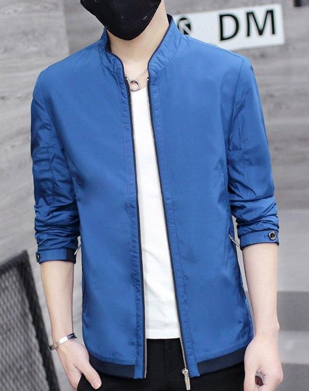 Blue Long Sleeve Standard Men's Jacket