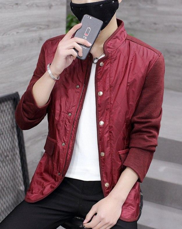 Red Long Sleeve Standard Men's Outerwear