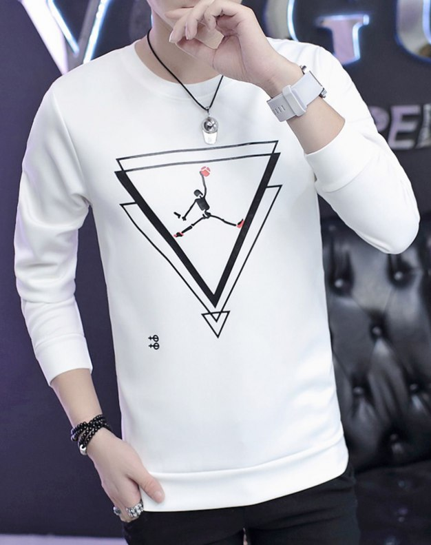 White Long Sleeve Standard Men's Hoodies & Sweatshirt