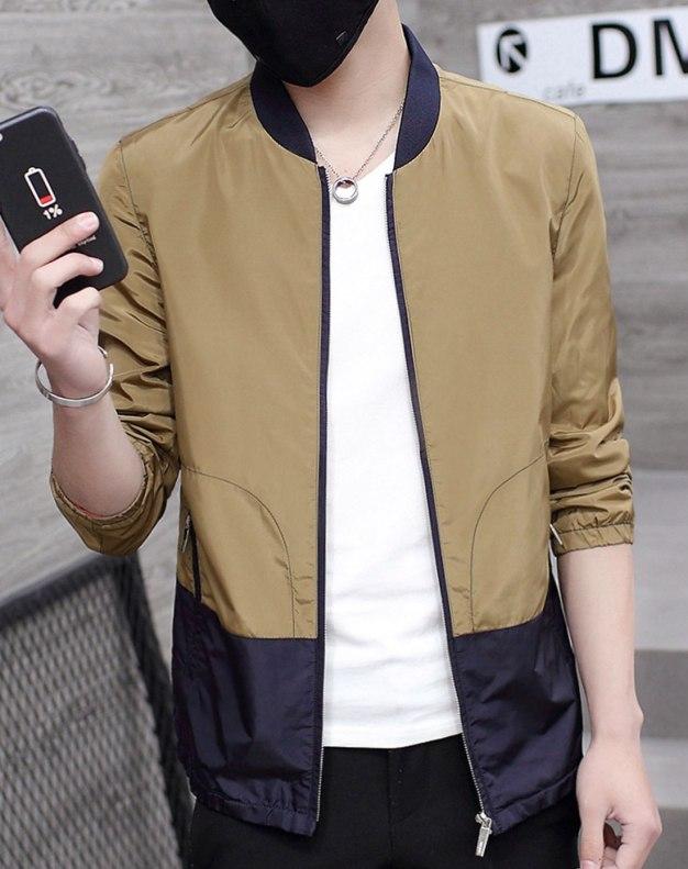 Camel Long Sleeve Men's Jacket