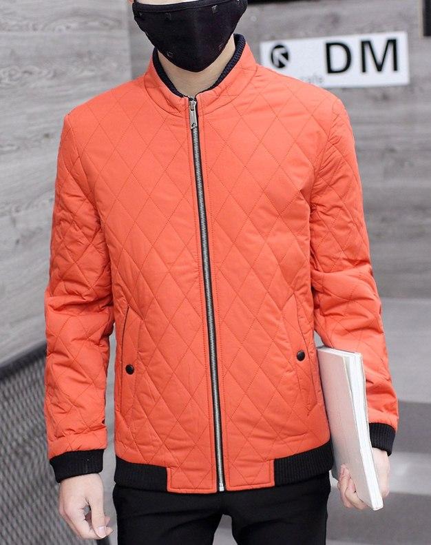 Red Long Sleeve Men's Outerwear
