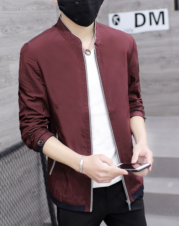 Red Long Sleeve Men's Jacket