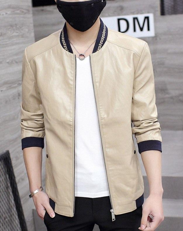 Yellow Long Sleeve Men's Jacket