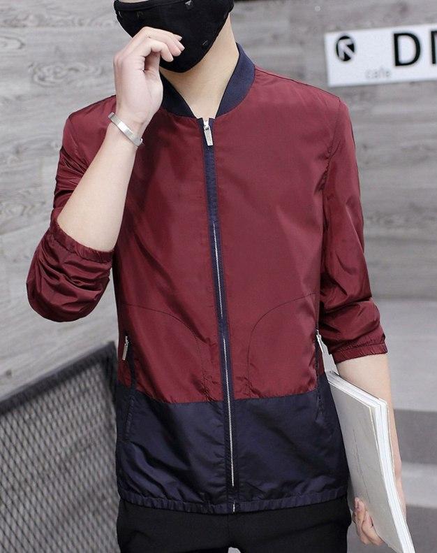 Red Long Sleeve Men's Jacket
