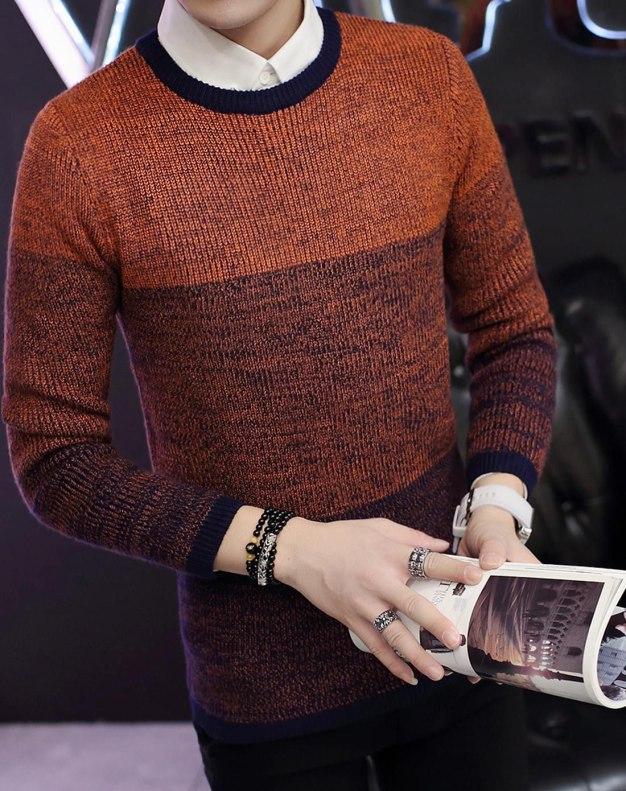 Yellow Long Sleeve Standard Men's Sweater