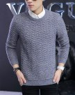 Purple Long Sleeve Standard Men's Sweater
