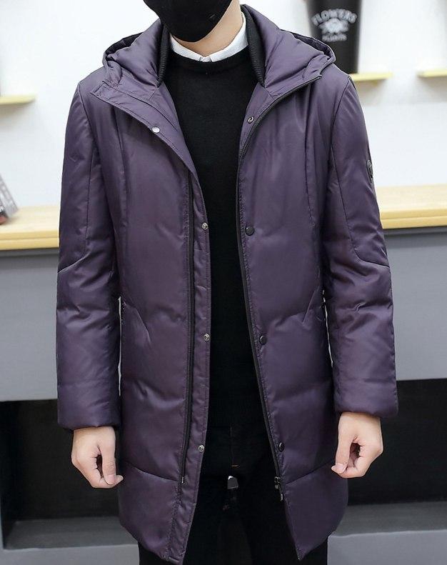 Purple Men's Down Coat