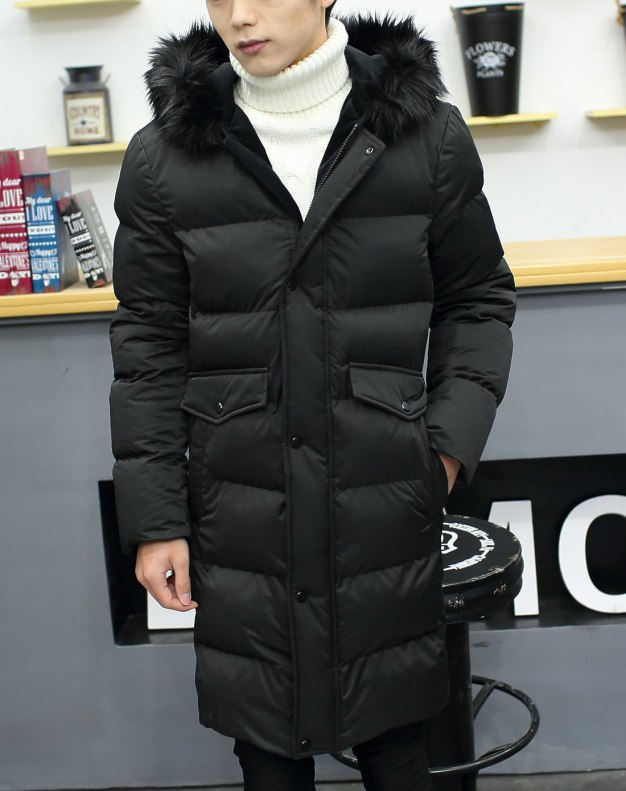 Black Long Sleeve Standard Men's Outerwear