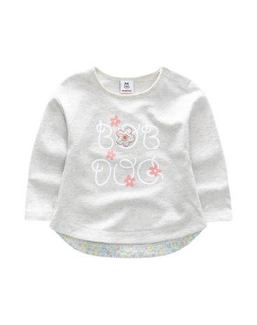 Beige Girls' Sweatshirt